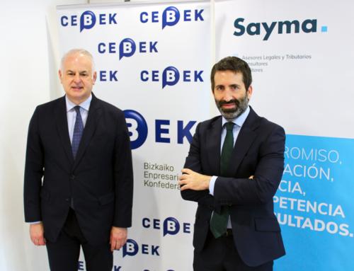 El acuerdo entre CEBEK y SAYMA permitirá un asesoramiento sobre programas públicos de ayudas a CEBEK y sus empresas asociadas