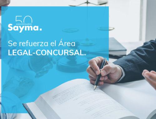 Sayma refuerza el Área Legal-Concursal