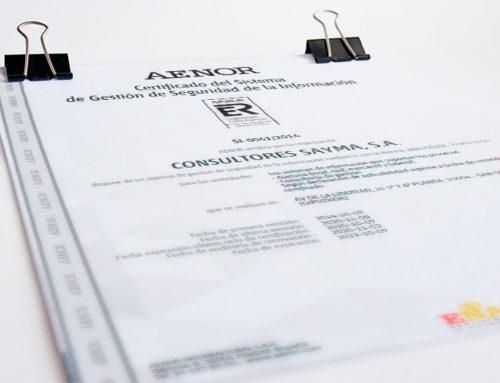 Sayma renueva sus Certificados de Sistemas de Gestión