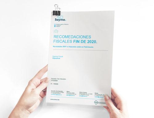 Gipuzkoa: Recomendaciones fiscales fin 2020 – Novedades IRPF e Impuesto sobre el Patrimonio