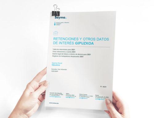Circular Retenciones Gipuzkoa 2021 y otros datos de interés