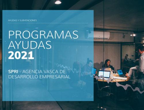 Programas de Ayudas 2021 –  SPRI